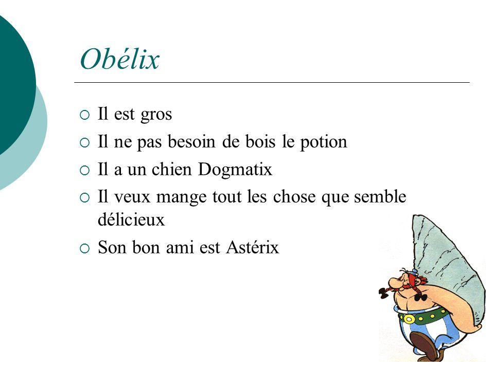 Obélix Il est gros Il ne pas besoin de bois le potion