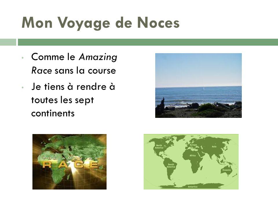 Mon Voyage de Noces Comme le Amazing Race sans la course