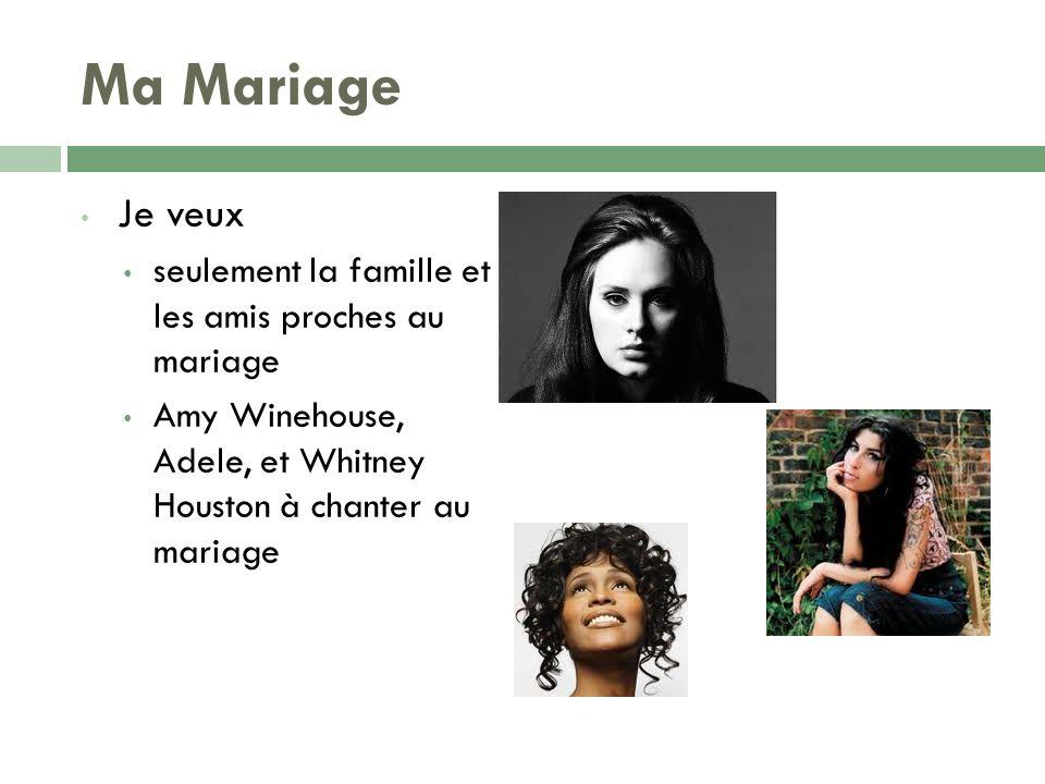 Ma Mariage Je veux seulement la famille et les amis proches au mariage