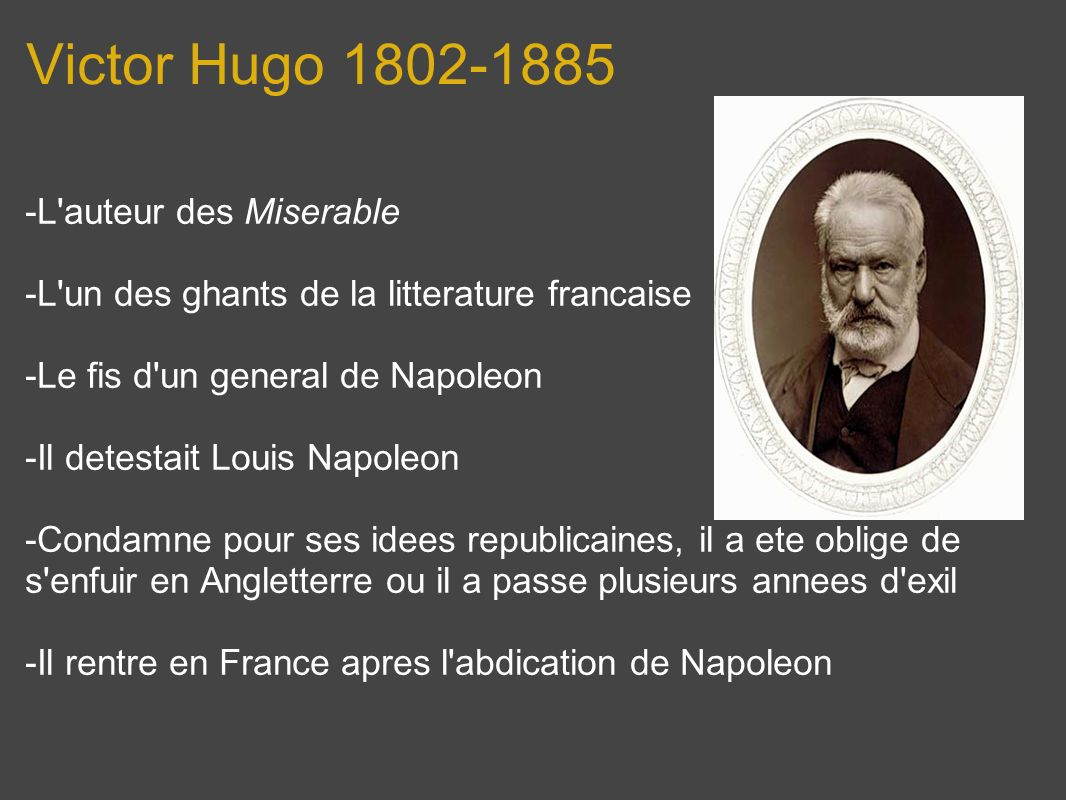 Victor Hugo 1802-1885 -L auteur des Miserable