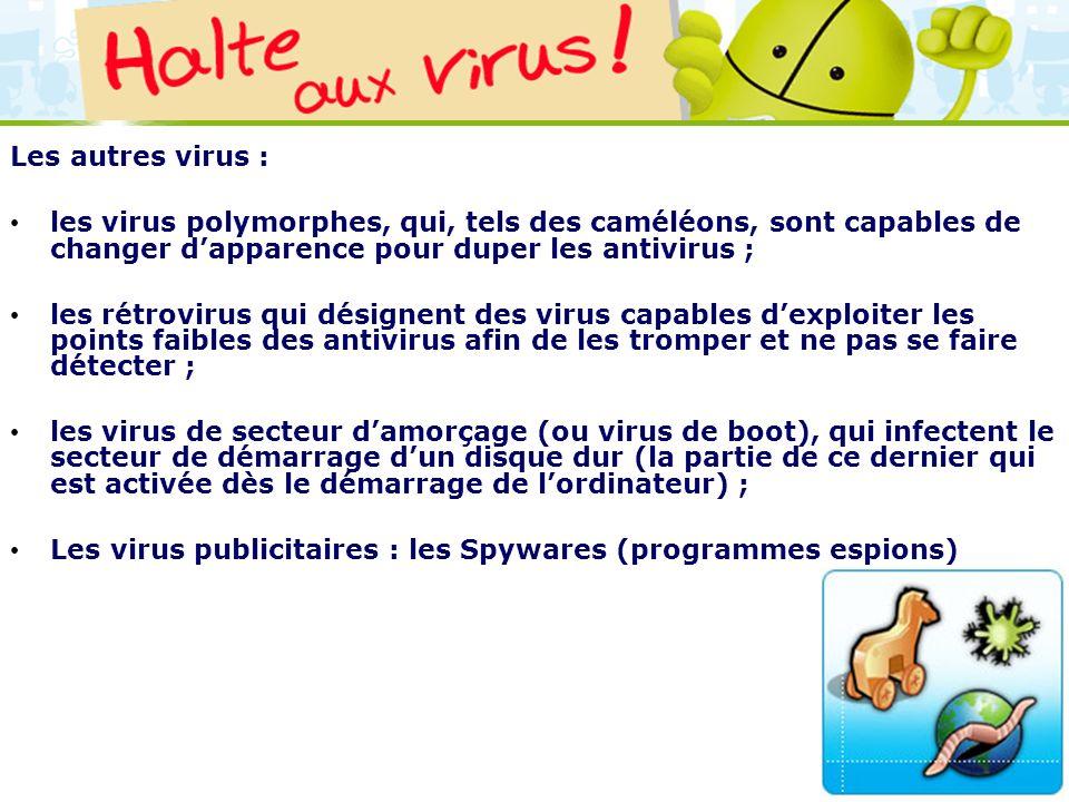 Les virus publicitaires : les Spywares (programmes espions)