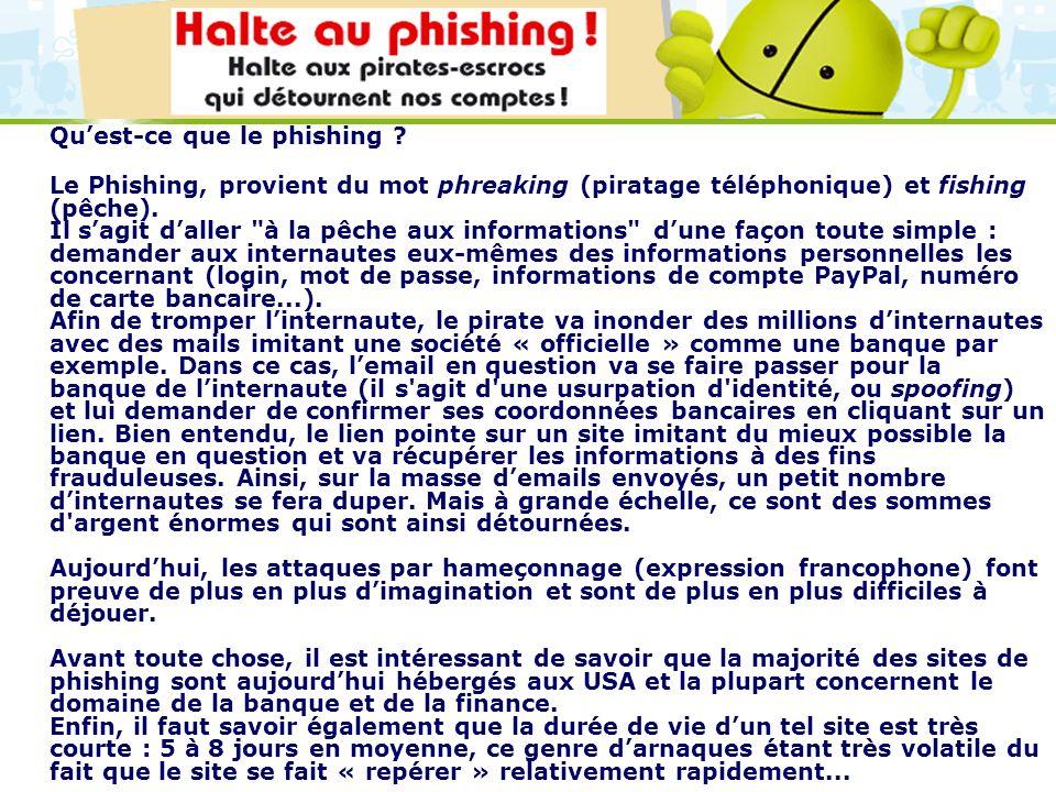 Qu'est-ce que le phishing