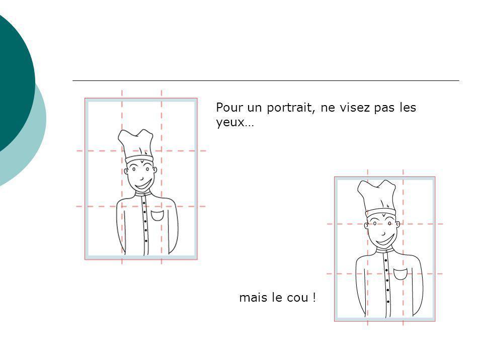 Pour un portrait, ne visez pas les yeux…