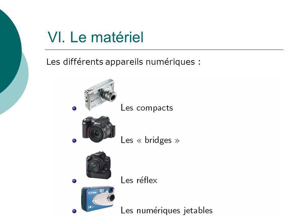 VI. Le matériel Les différents appareils numériques :
