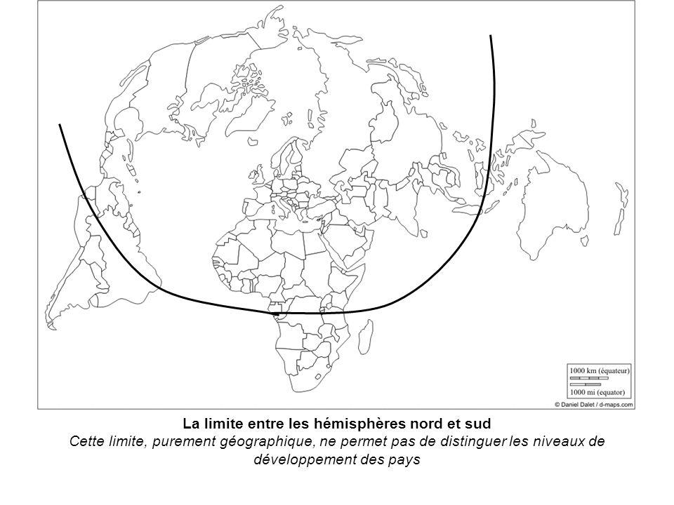La limite entre les hémisphères nord et sud