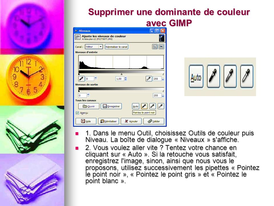 Supprimer une dominante de couleur avec GIMP
