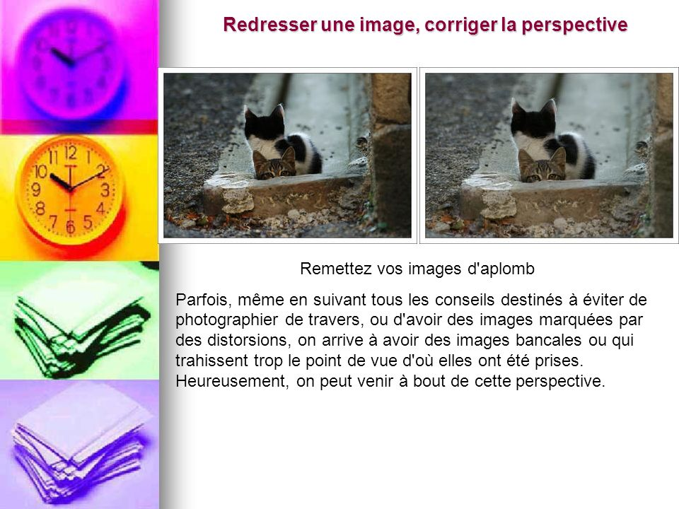 Redresser une image, corriger la perspective