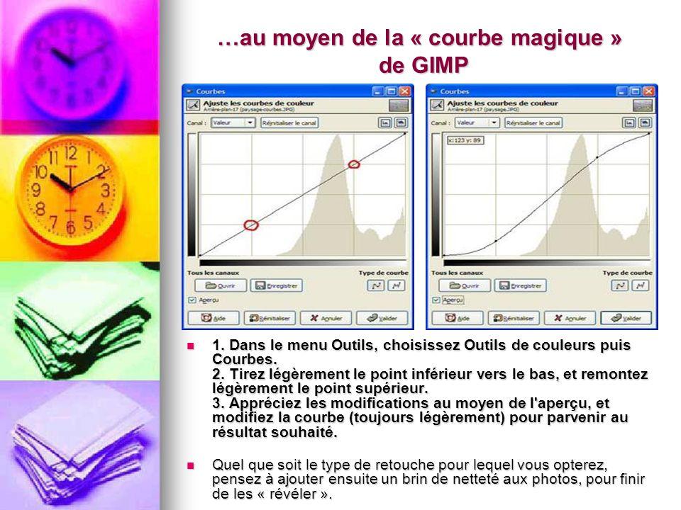 …au moyen de la « courbe magique » de GIMP