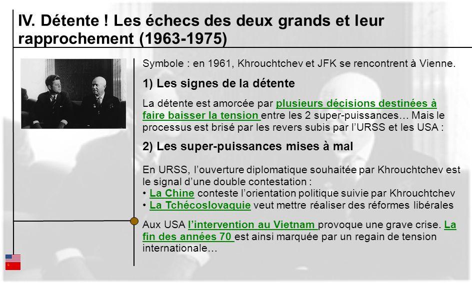 IV. Détente ! Les échecs des deux grands et leur rapprochement (1963-1975)