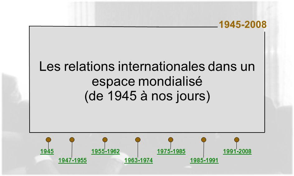 Les relations internationales dans un espace mondialisé
