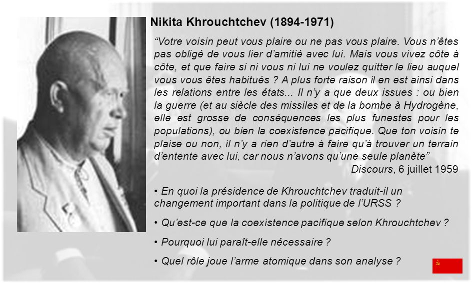 Nikita Khrouchtchev (1894-1971)