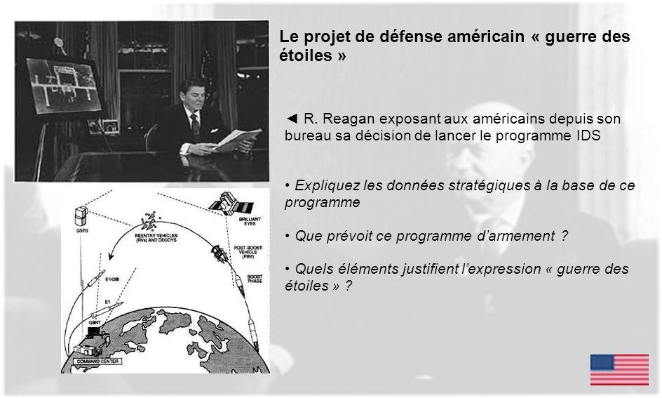 Le projet de défense américain « guerre des étoiles »