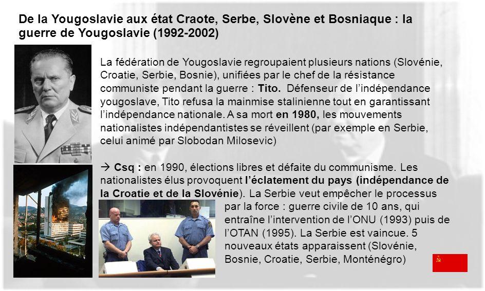 De la Yougoslavie aux état Craote, Serbe, Slovène et Bosniaque : la guerre de Yougoslavie (1992-2002)