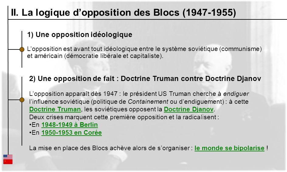 II. La logique d'opposition des Blocs (1947-1955)