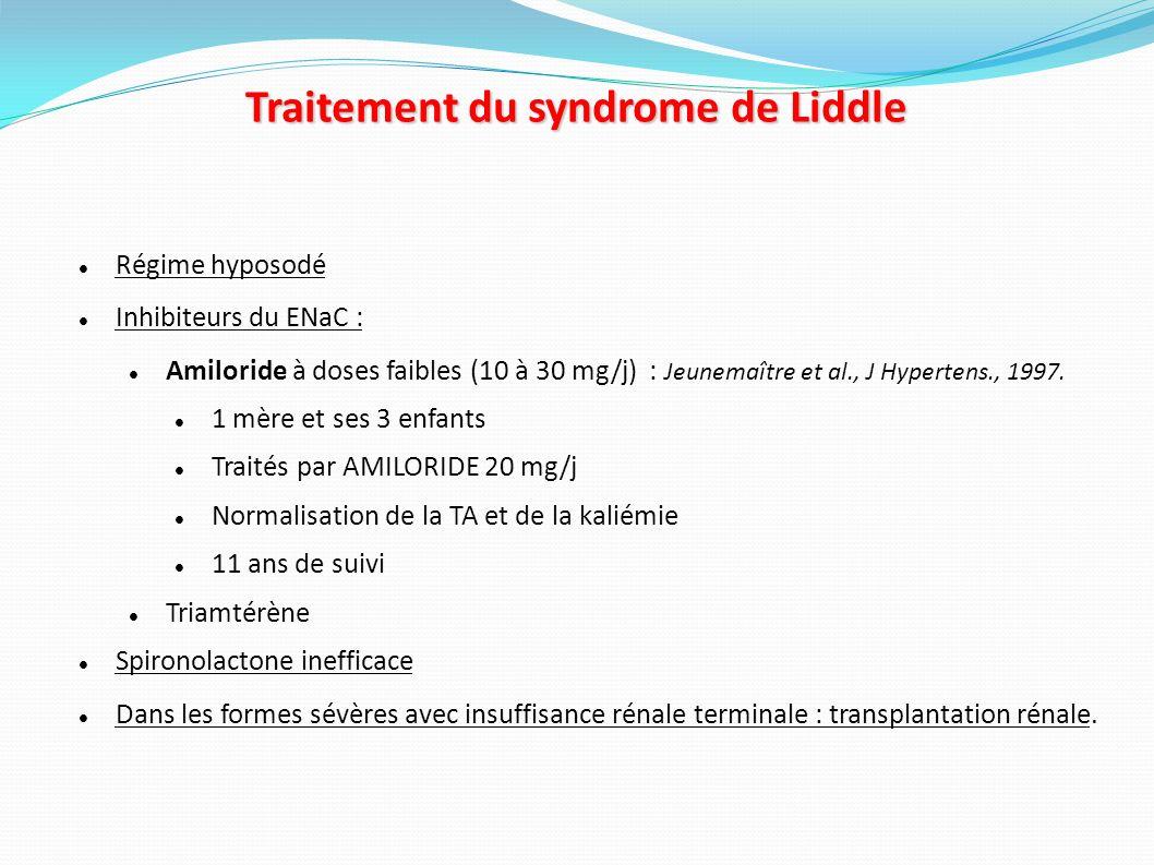 Traitement du syndrome de Liddle