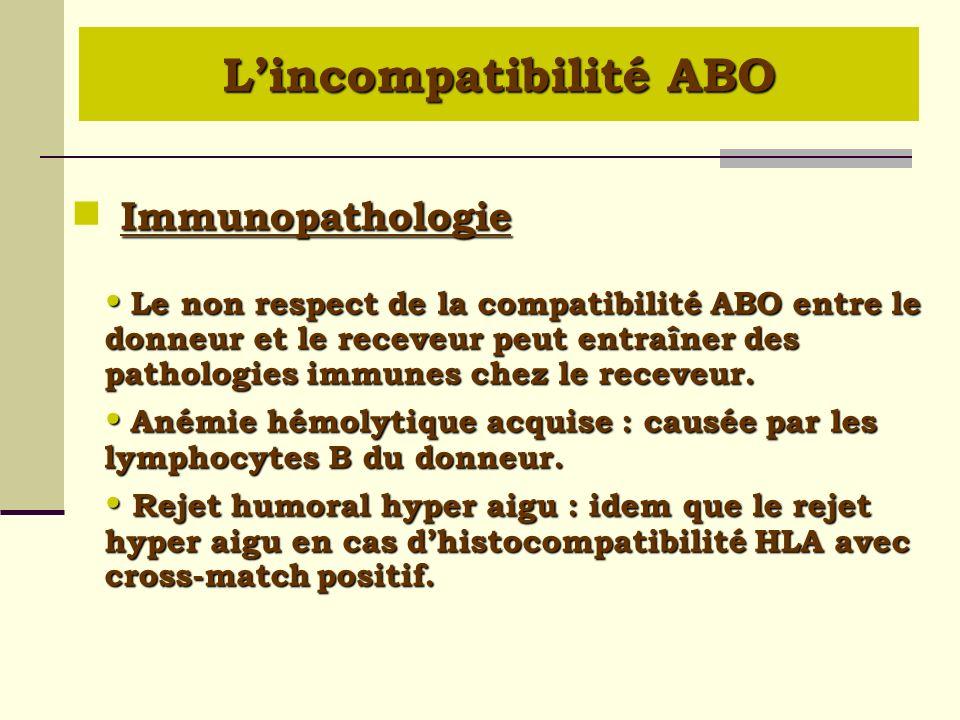 L'incompatibilité ABO