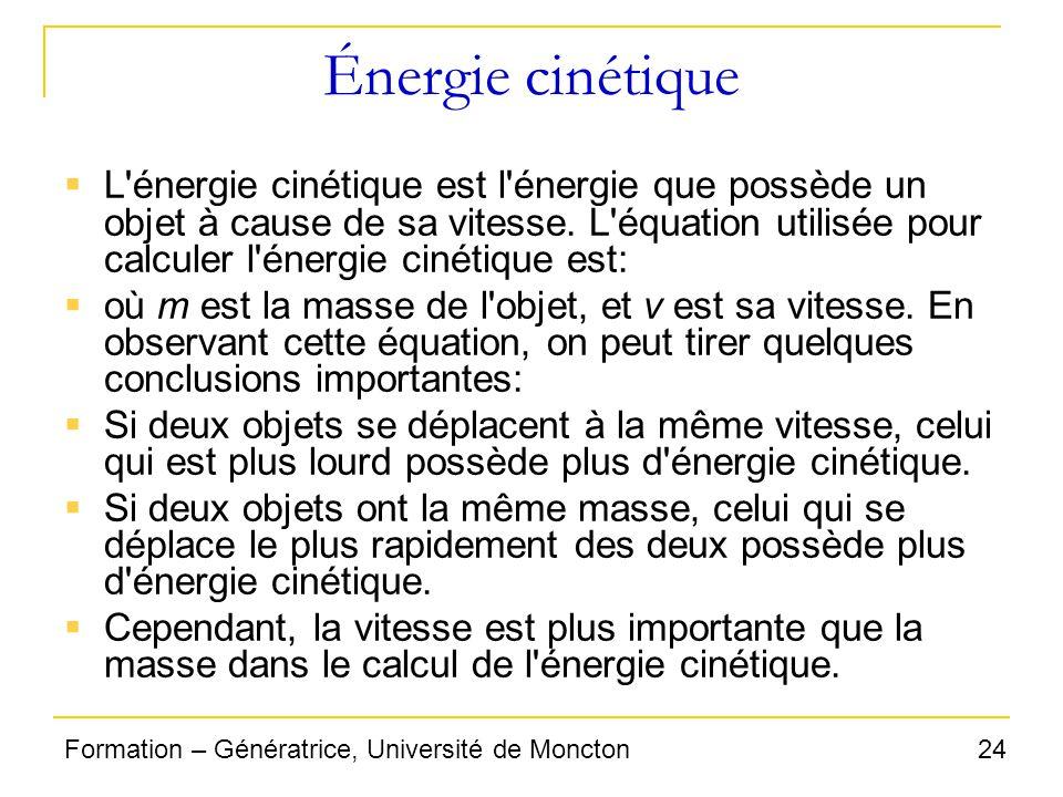 Énergie cinétique