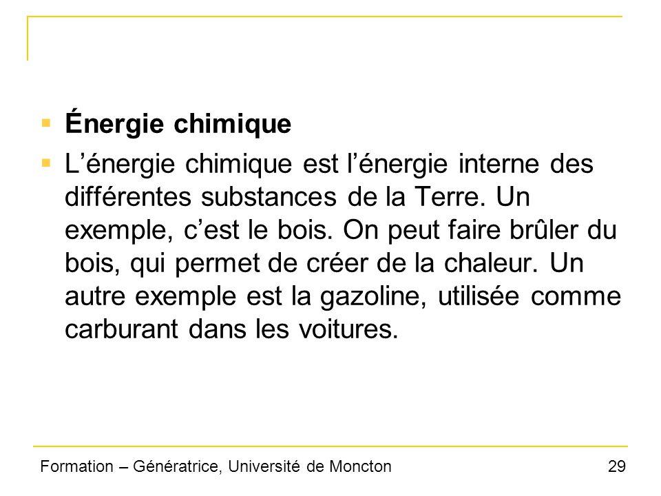 Énergie chimique
