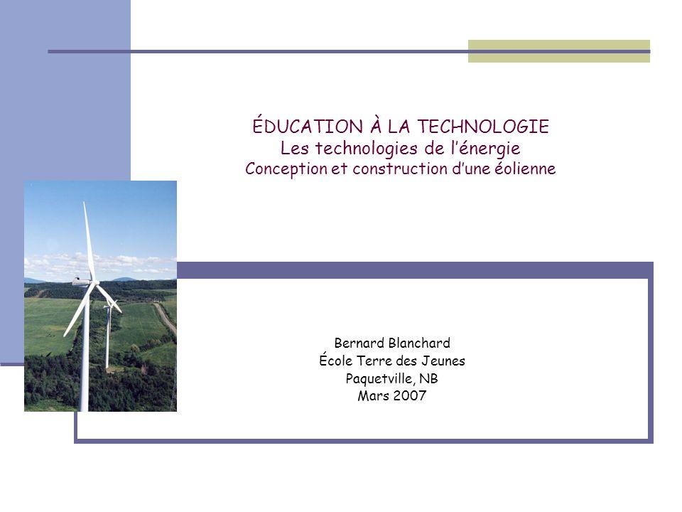 Bernard Blanchard École Terre des Jeunes Paquetville, NB Mars 2007