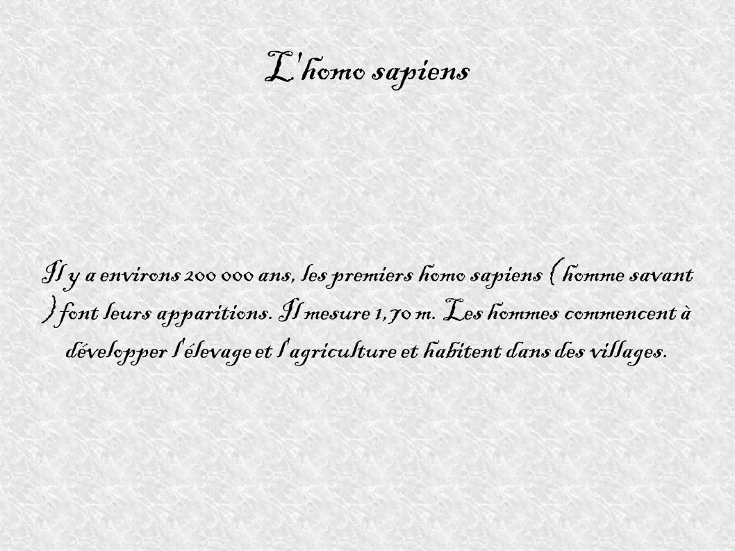 L homo sapiens