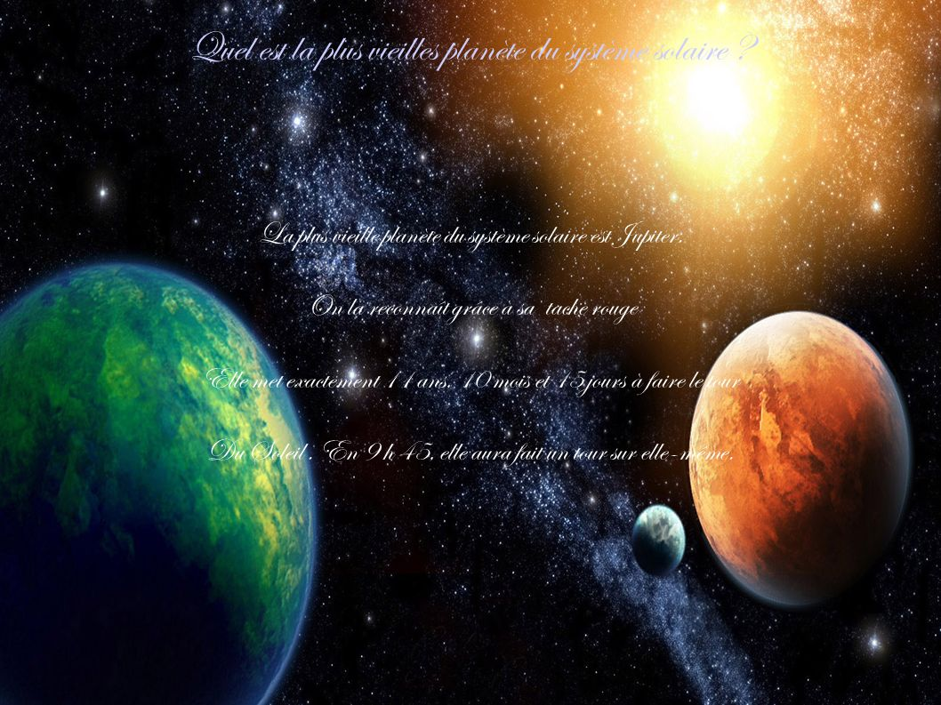 Quel est la plus vieilles planète du système solaire