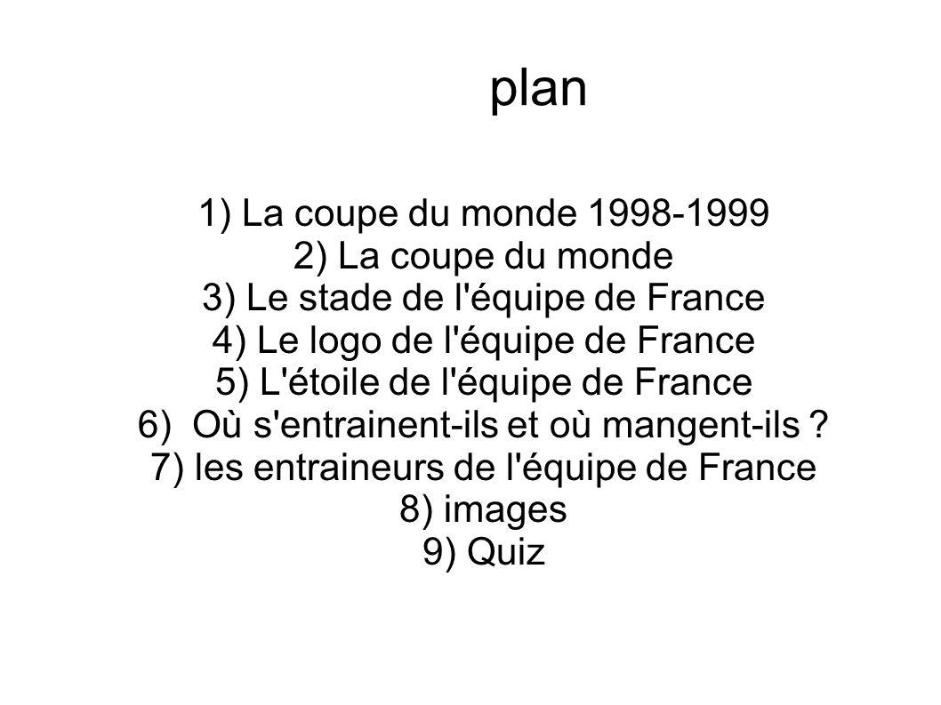 3) Le stade de l équipe de France 4) Le logo de l équipe de France