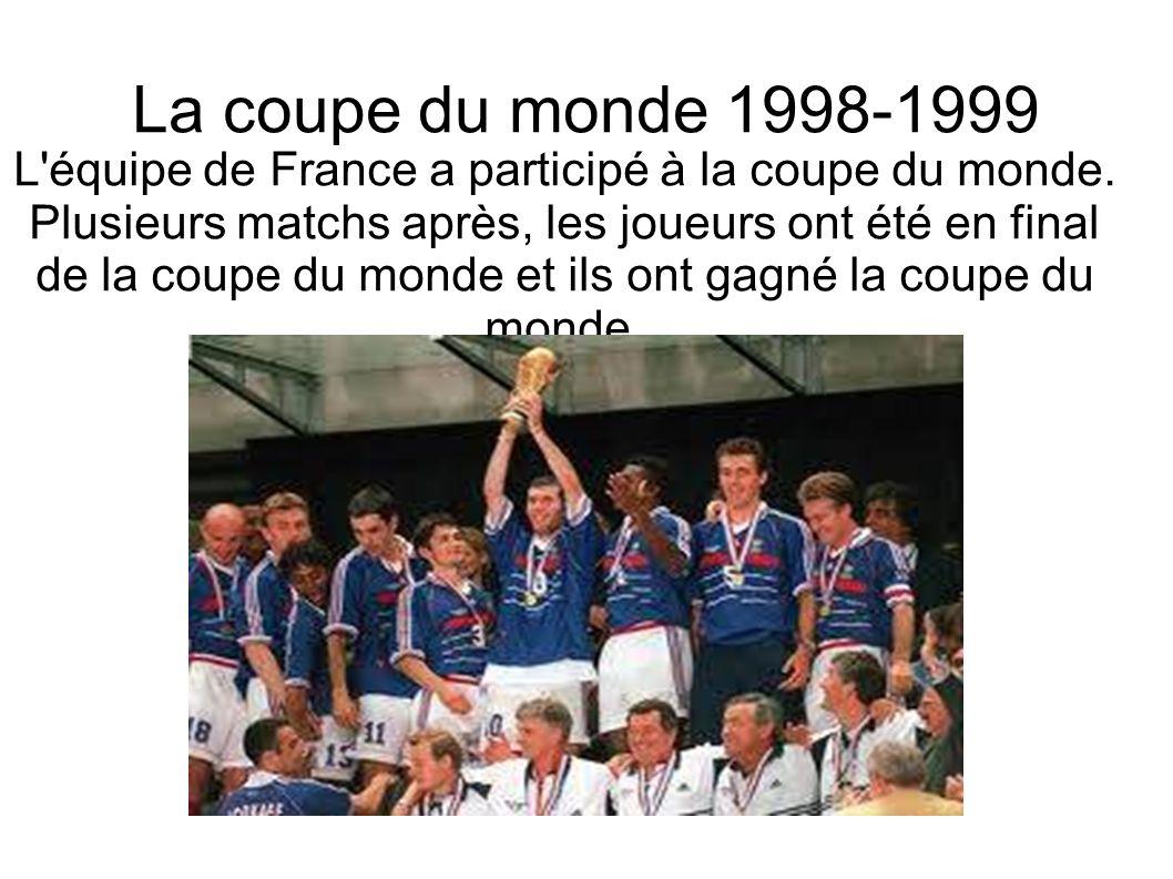 La coupe du monde 1998-1999