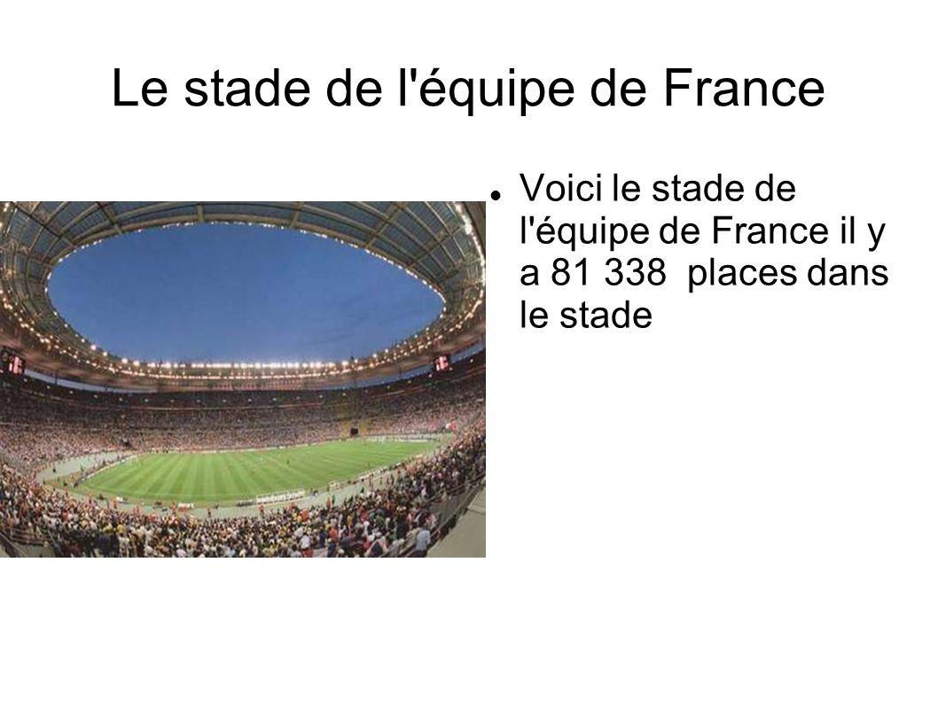 Le stade de l équipe de France