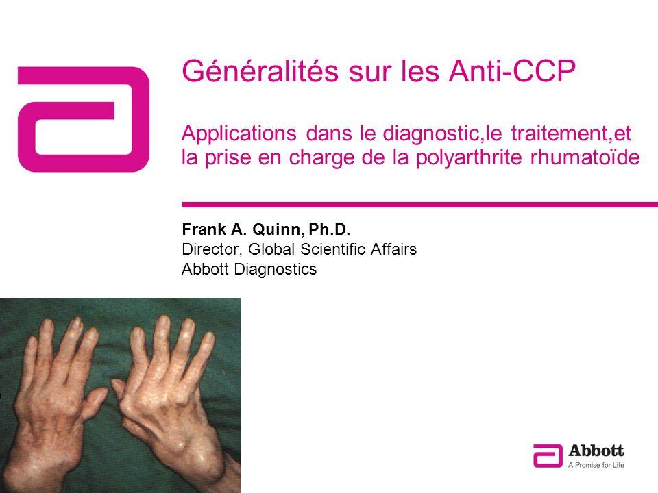 Généralités sur les Anti-CCP Applications dans le diagnostic,le traitement,et la prise en charge de la polyarthrite rhumatoïde