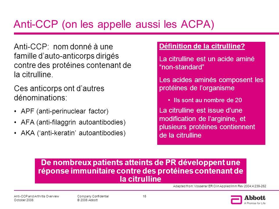 Anti-CCP (on les appelle aussi les ACPA)