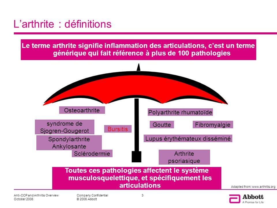 L'arthrite : définitions