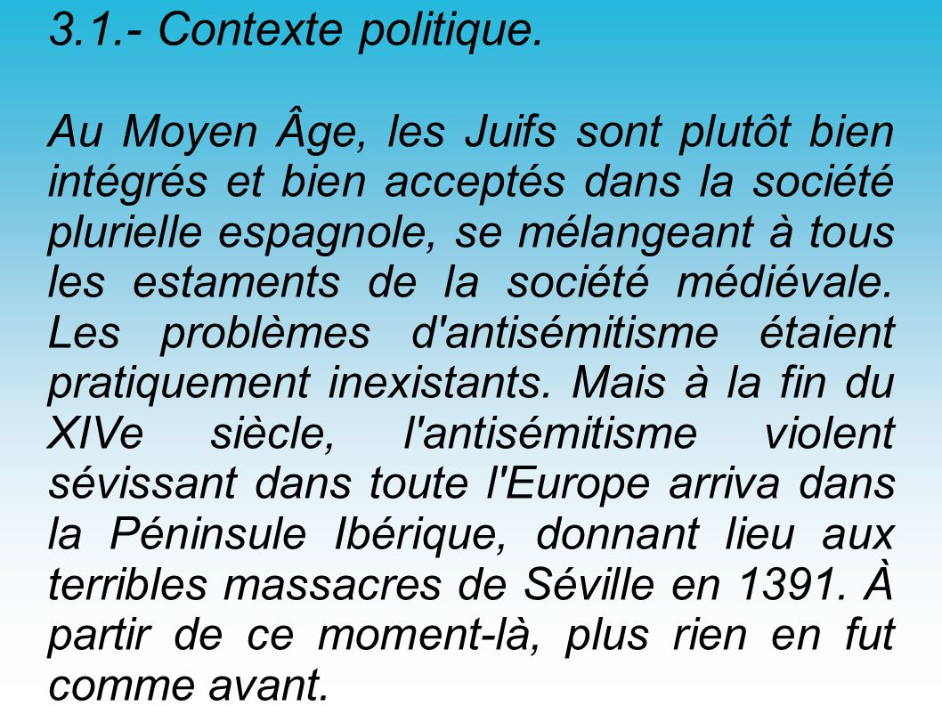 3.1.- Contexte politique.