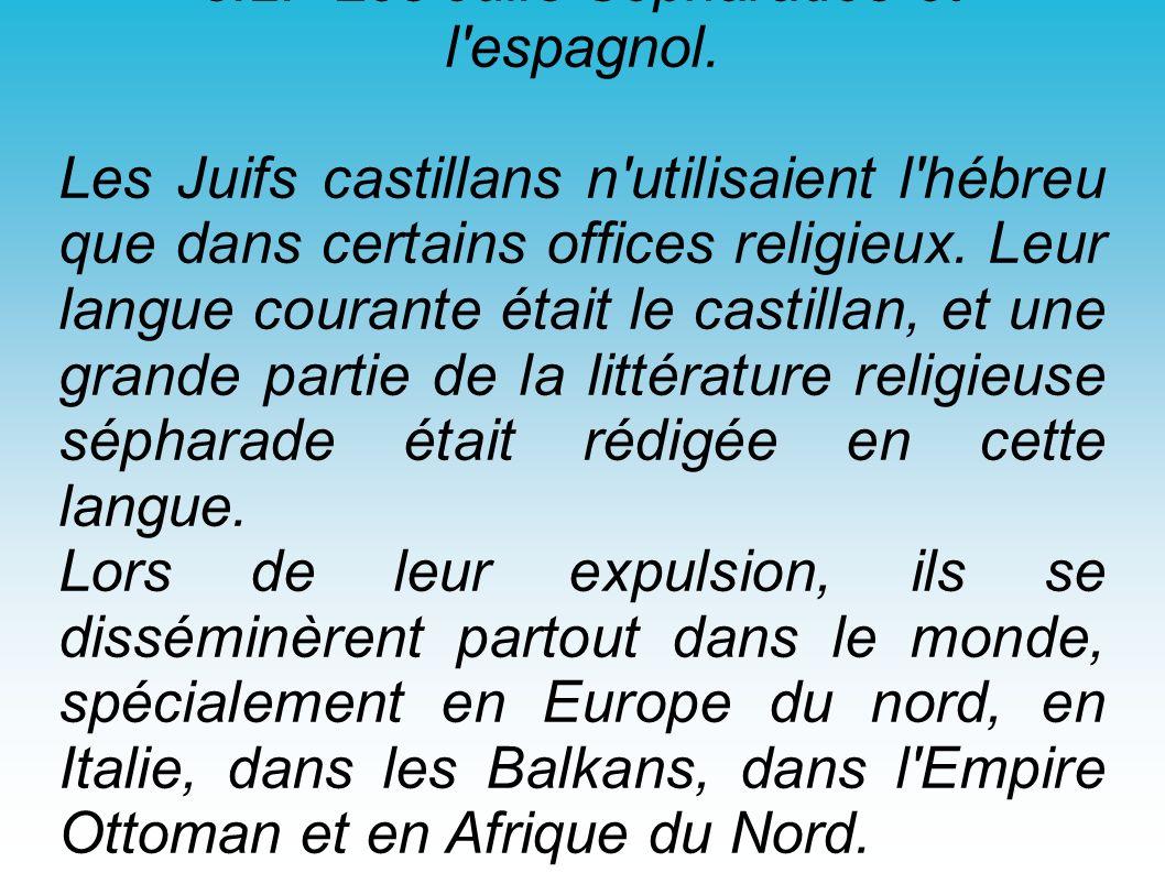 3.2.- Les Juifs Sépharades et l espagnol.