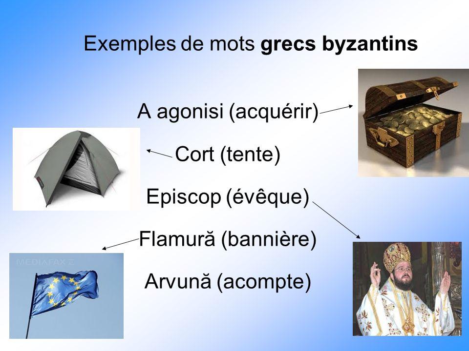 Exemples de mots grecs byzantins