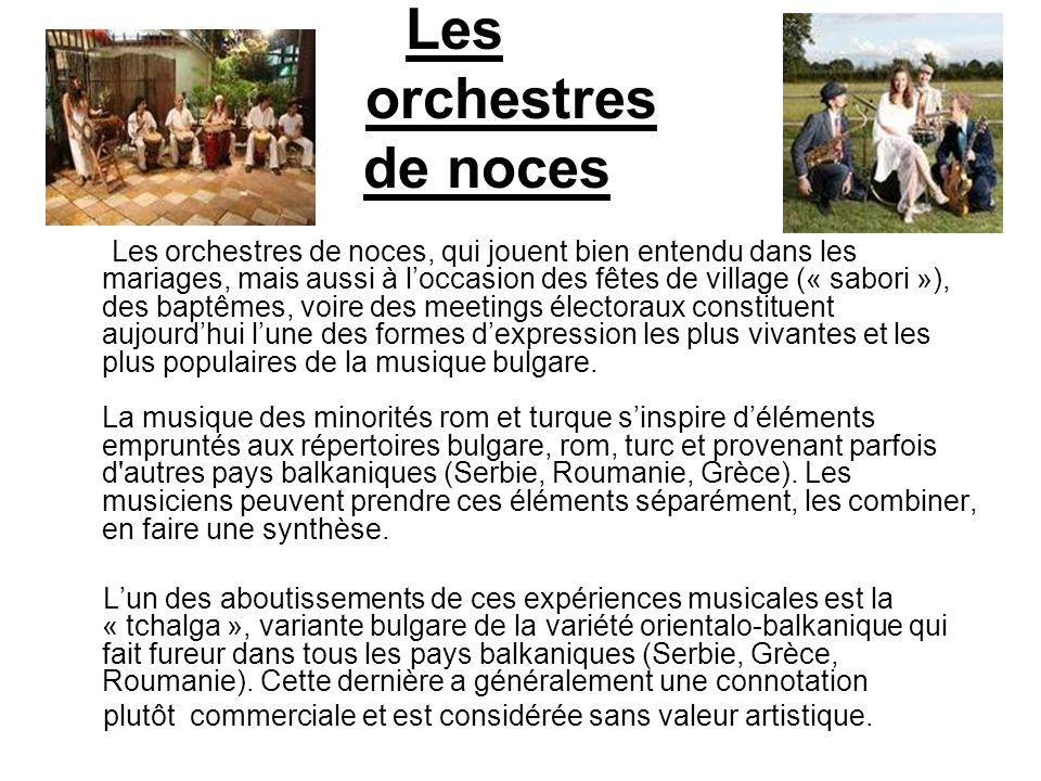 Les orchestres de noces
