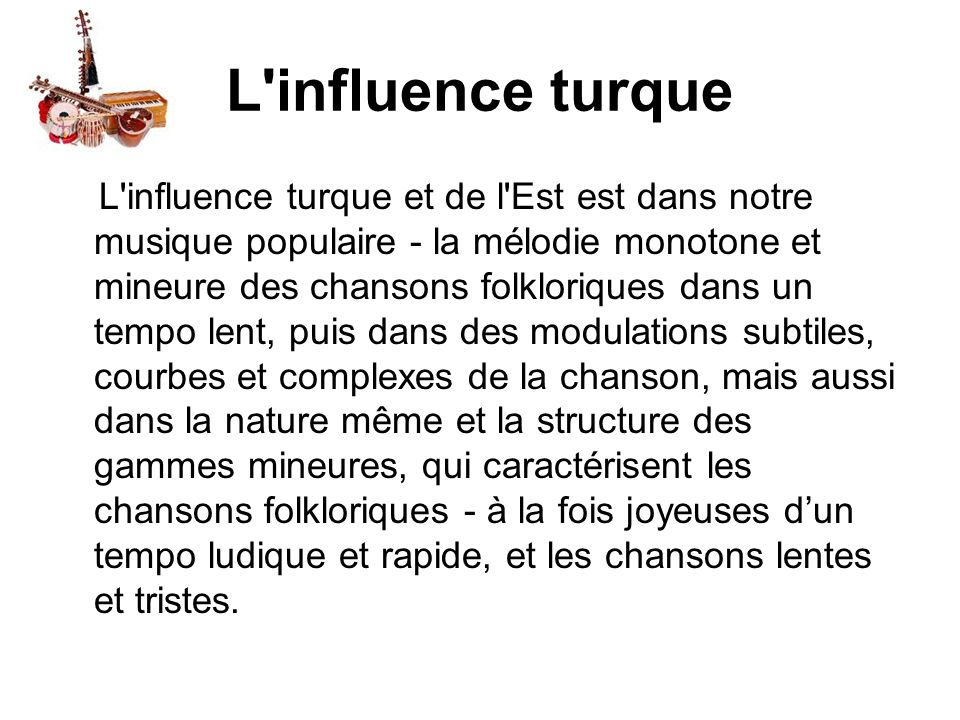 L influence turque