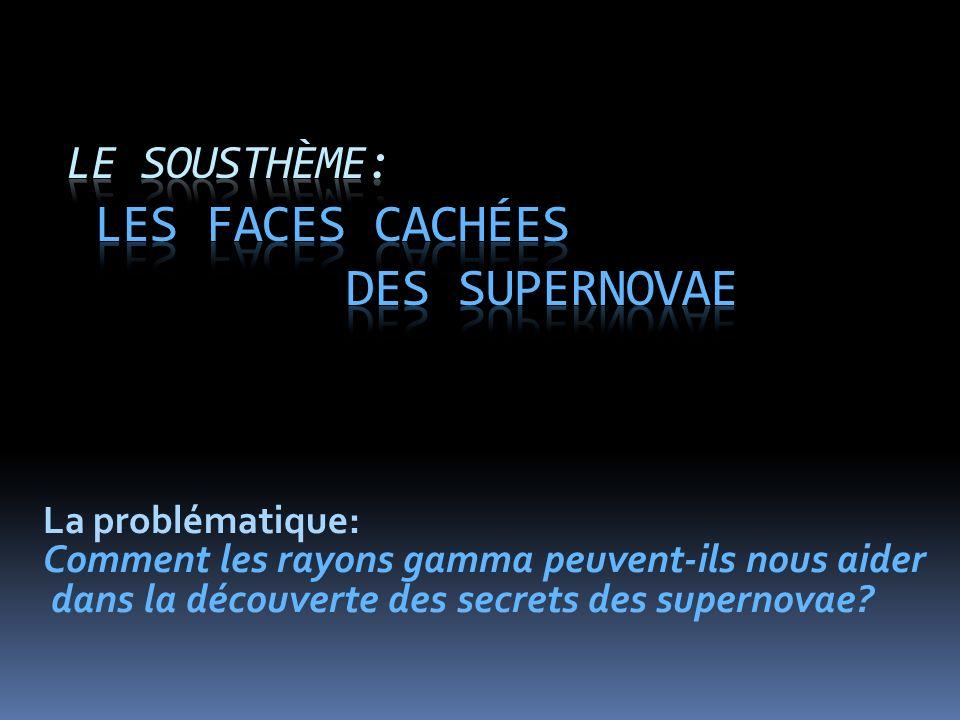 Le sousthème: Les faces cachées des supernovae