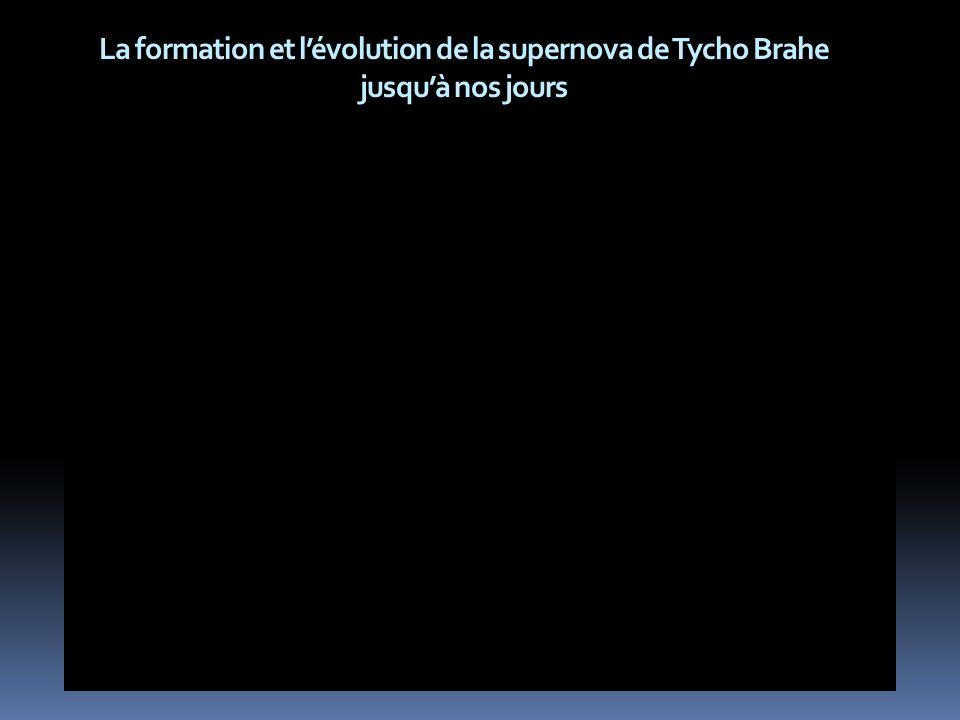 La formation et l'évolution de la supernova de Tycho Brahe jusqu'à nos jours