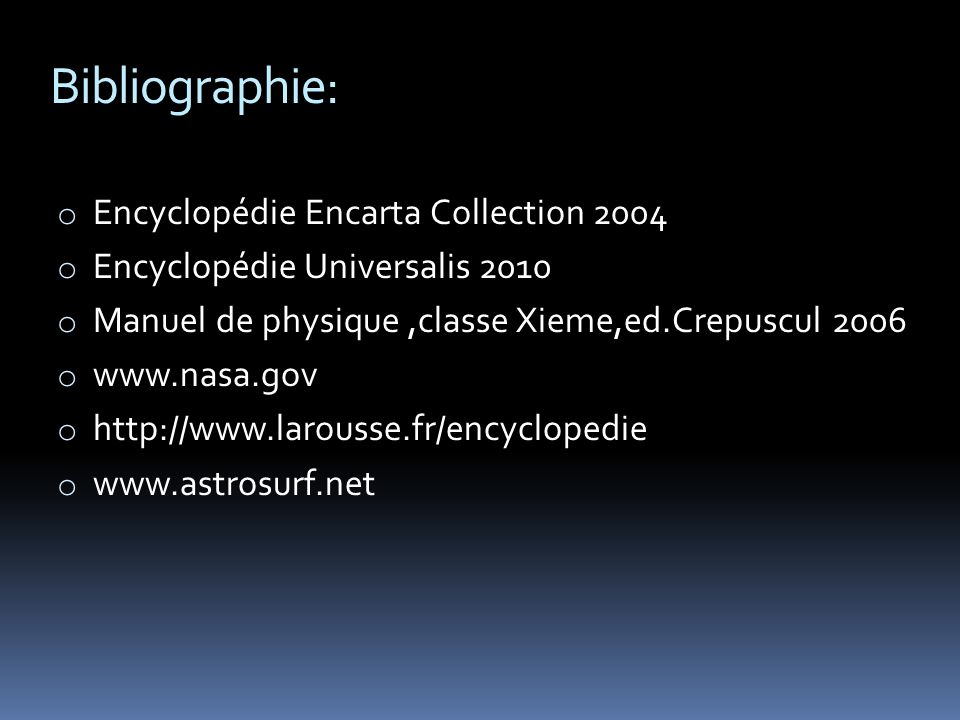 Bibliographie: Encyclopédie Encarta Collection 2004