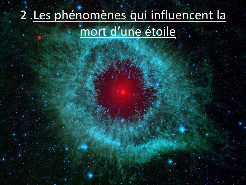 2 .Les phénomènes qui influencent la mort d'une étoile
