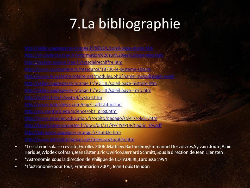 7.La bibliographie http://skilan.pagesperso-orange.fr/SOLEIL/soleil-page-etude.htm.