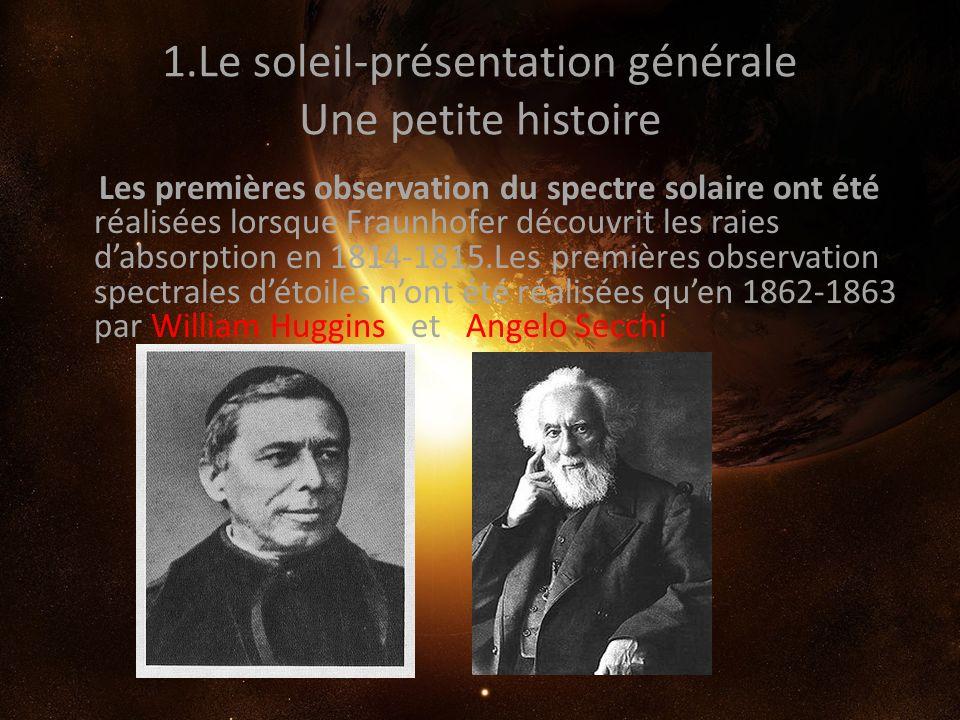 1.Le soleil-présentation générale Une petite histoire