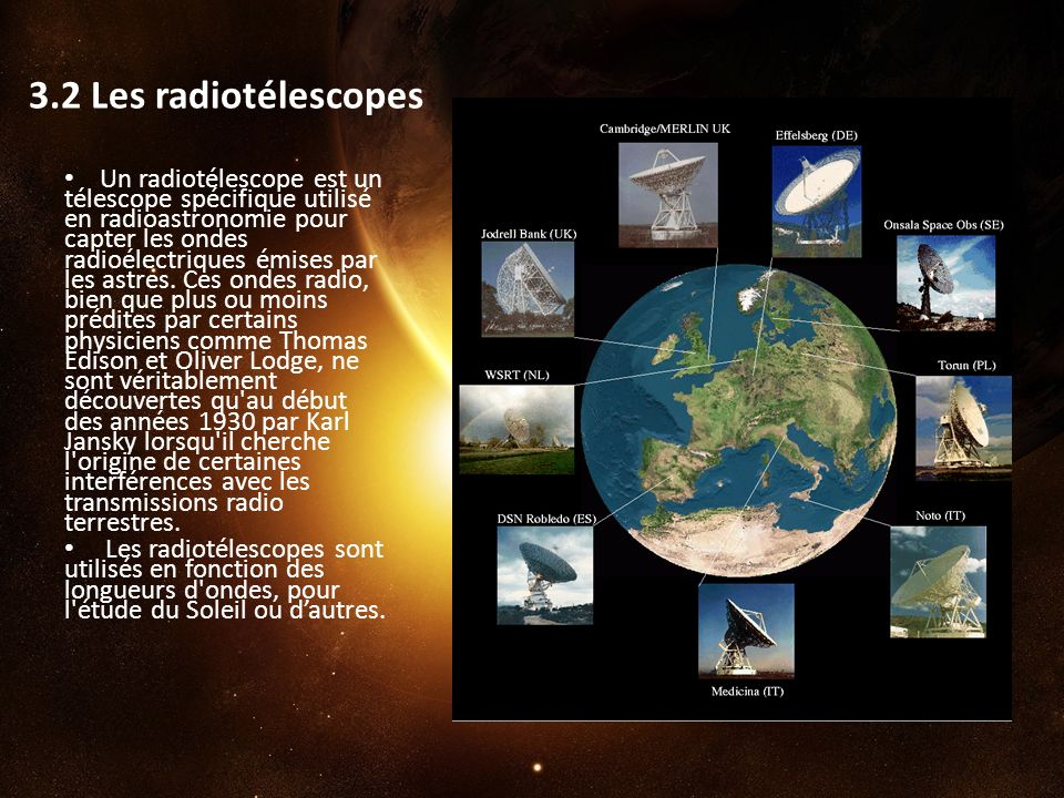3.2 Les radiotélescopes