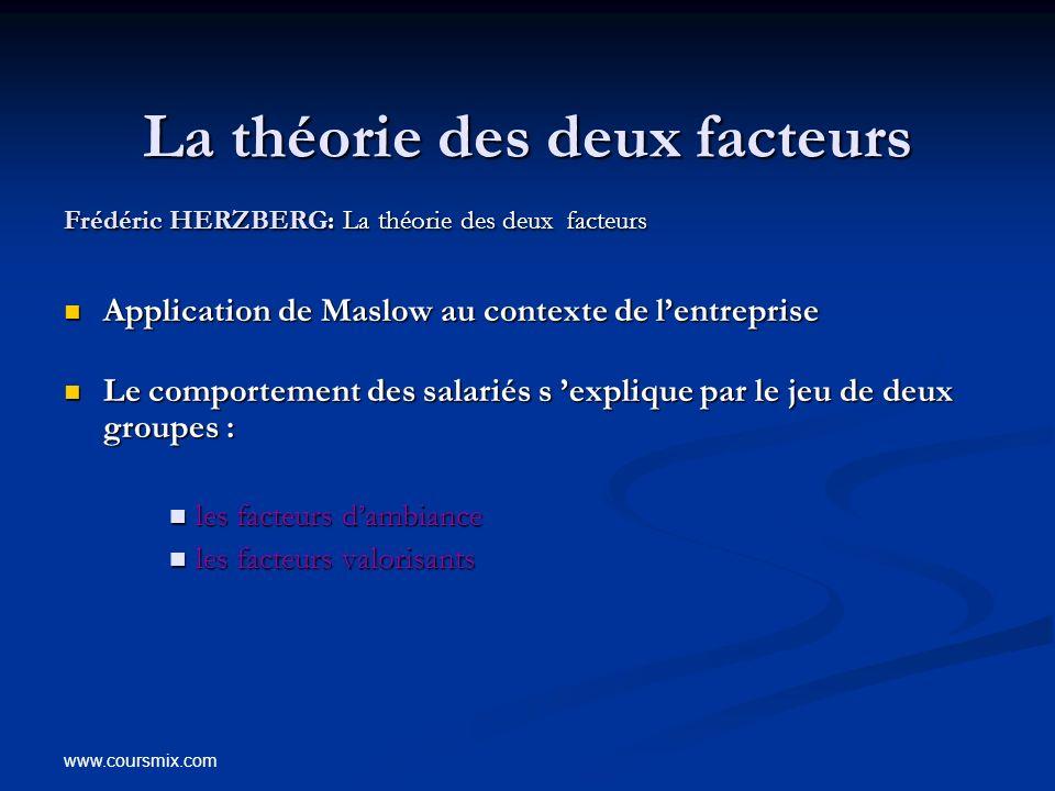 La théorie des deux facteurs