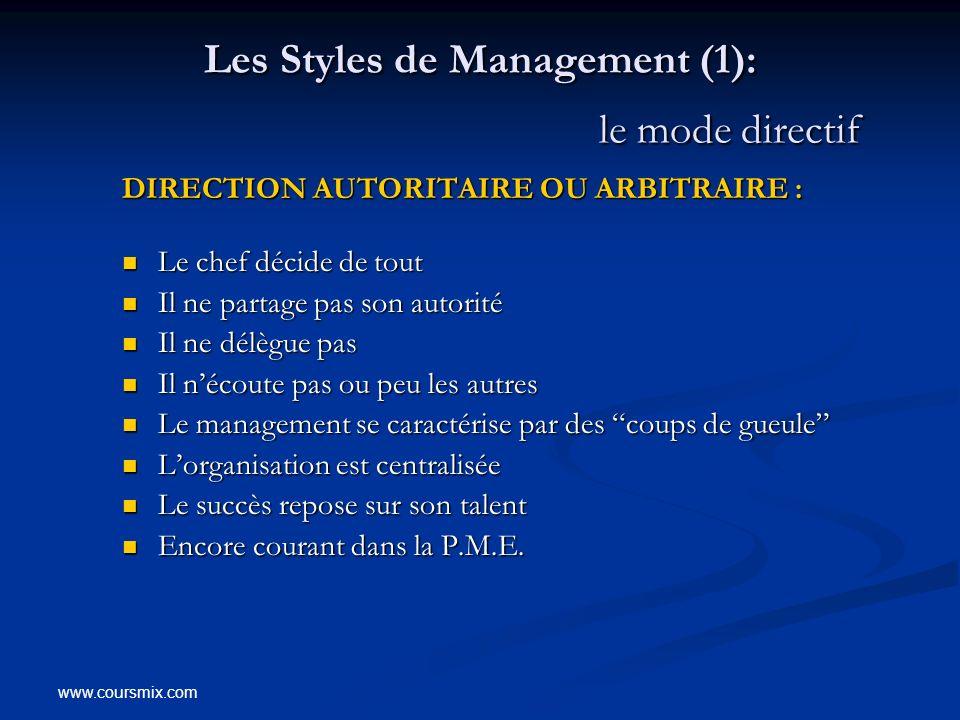 Les Styles de Management (1): le mode directif