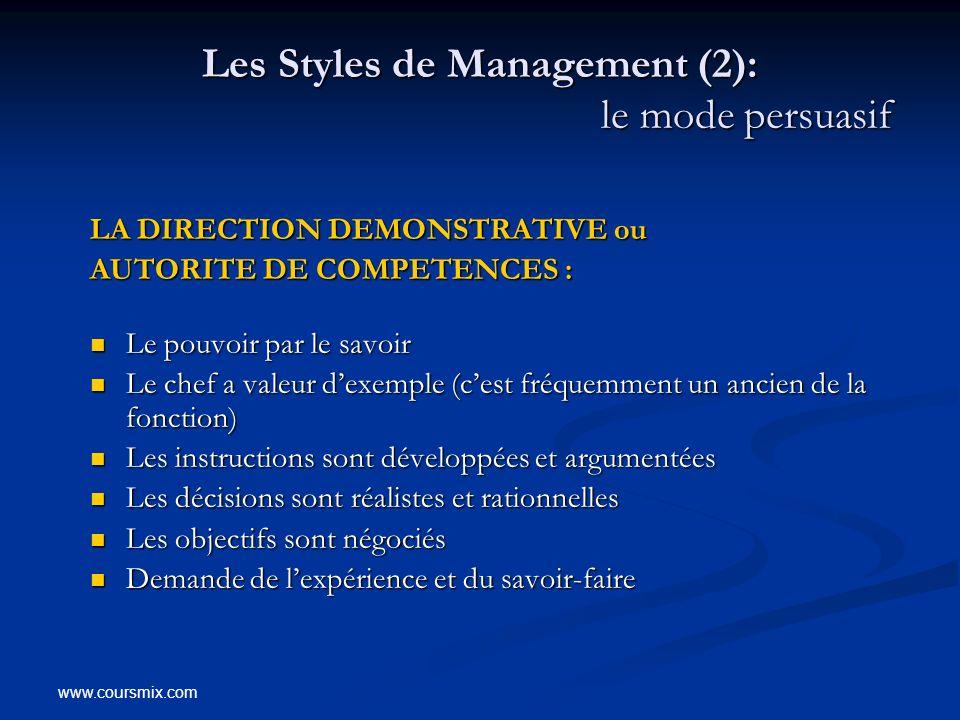 Les Styles de Management (2): le mode persuasif