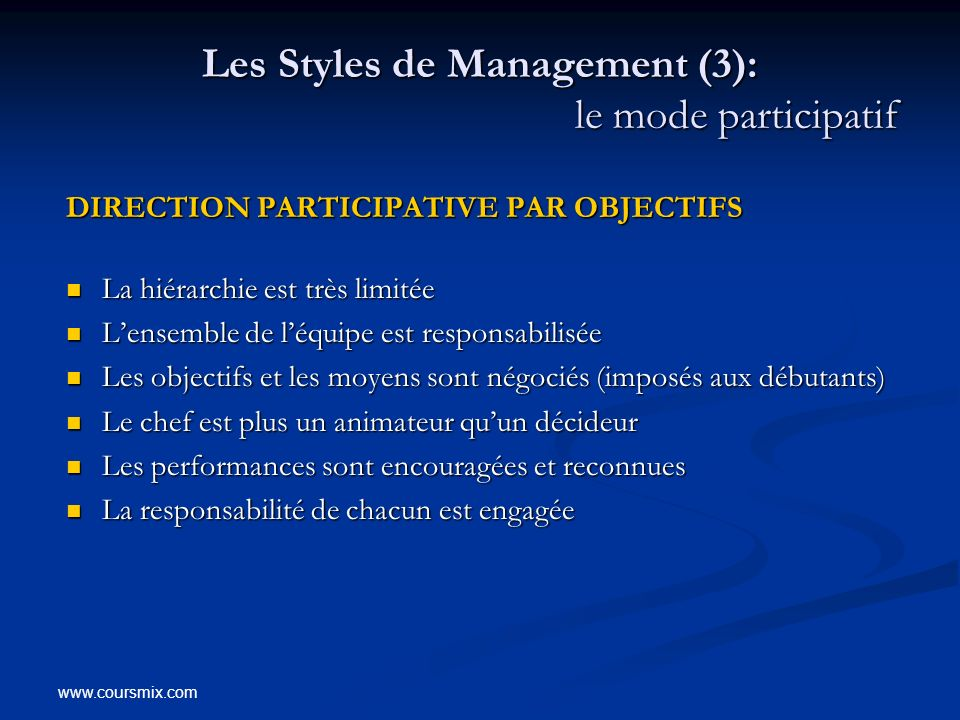 Les Styles de Management (3): le mode participatif