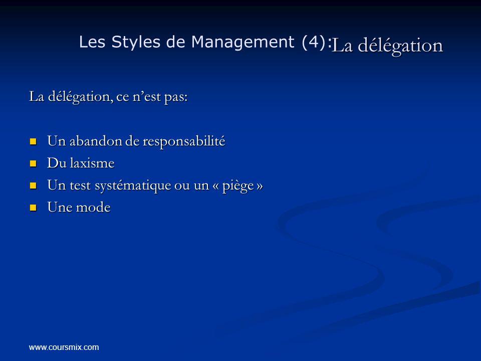 La délégation Les Styles de Management (4):