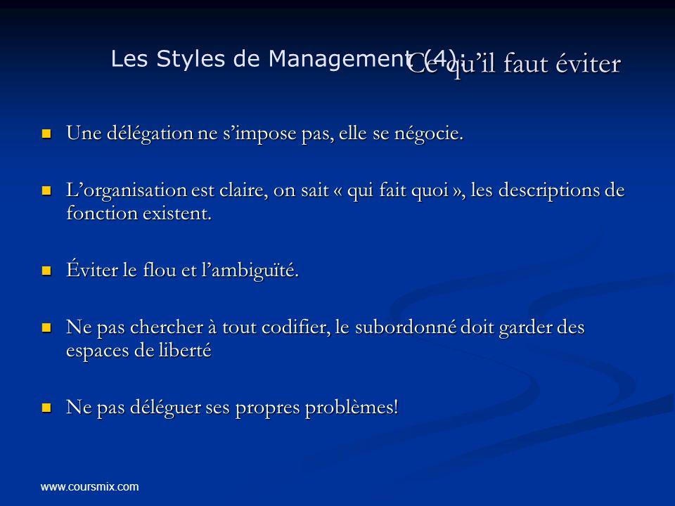 Ce qu'il faut éviter Les Styles de Management (4):