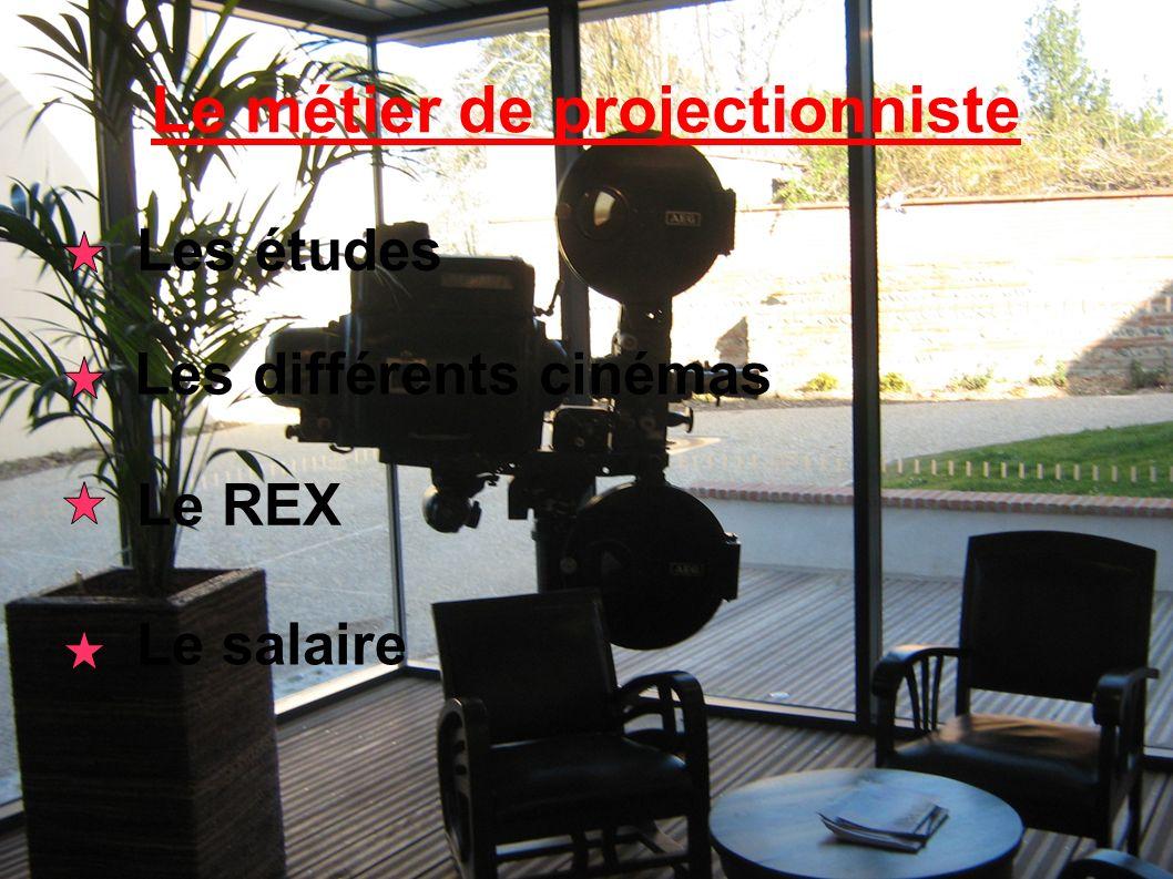 Le métier de projectionniste